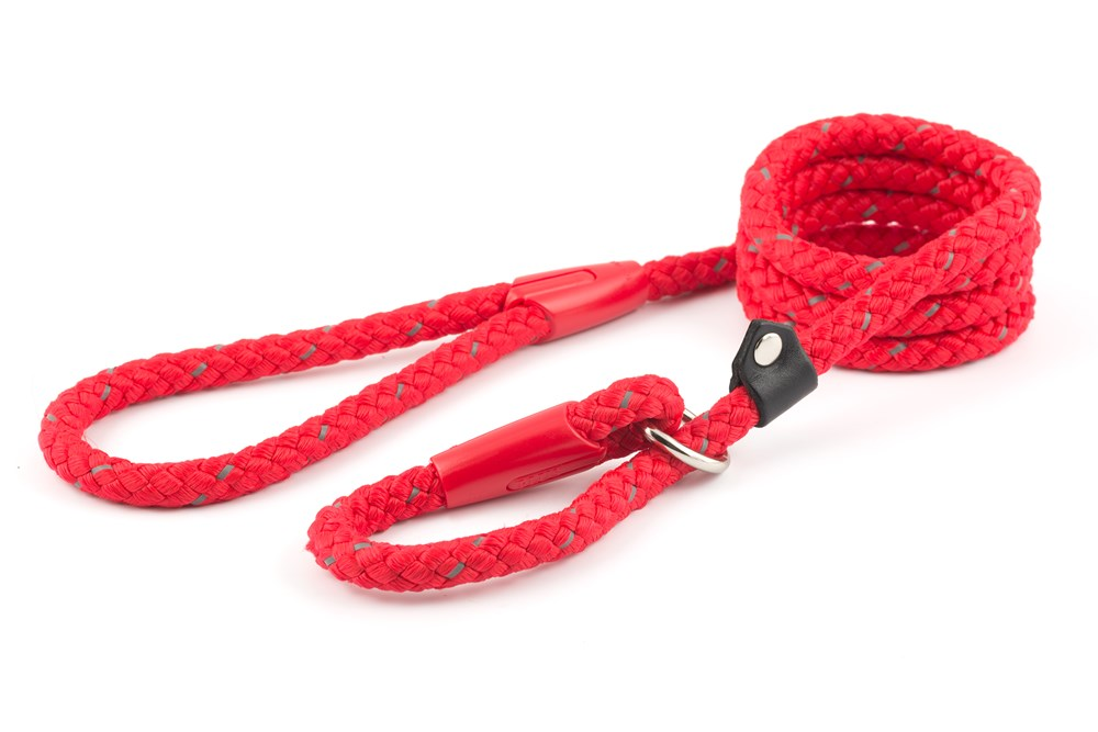 Ancol Red Reflective Rope Slip Lead