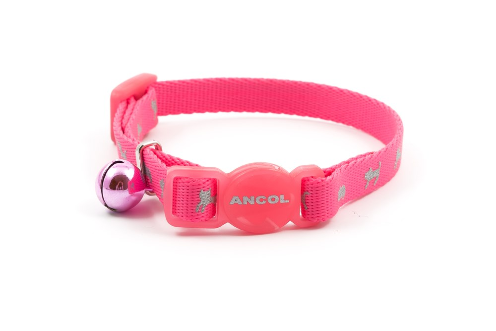 Hi-Vis Safety Kitten Collar Pink