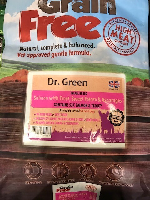 Dr Green Grain Free Dog Food Small Bite Salmon 2KG