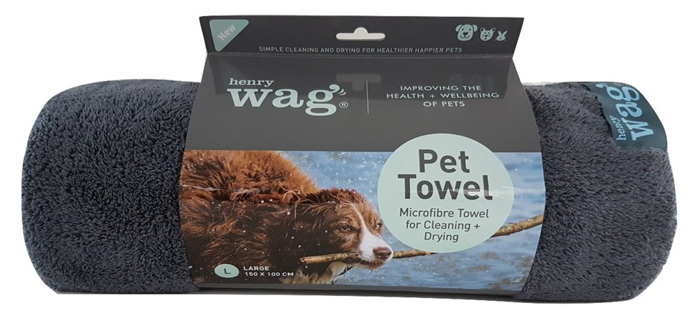 Henry Wag Microfibre Towel Small 100 x 70cm