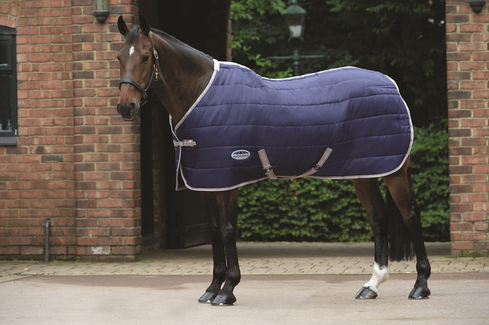 Weatherbeeta Horse Rug Channel quilt Std Med Navy 5'6