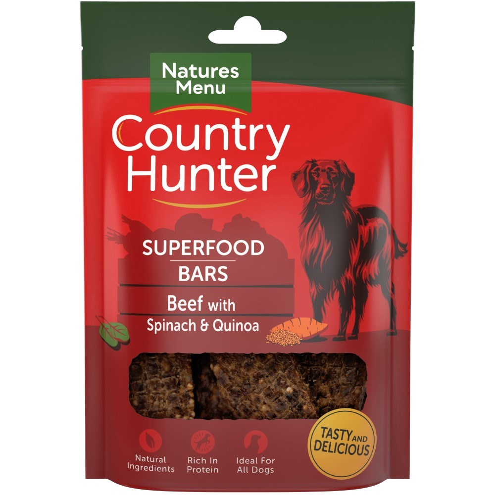 Country Hunter Superfood Bars - Beef with Spinach & Quinoa 100g