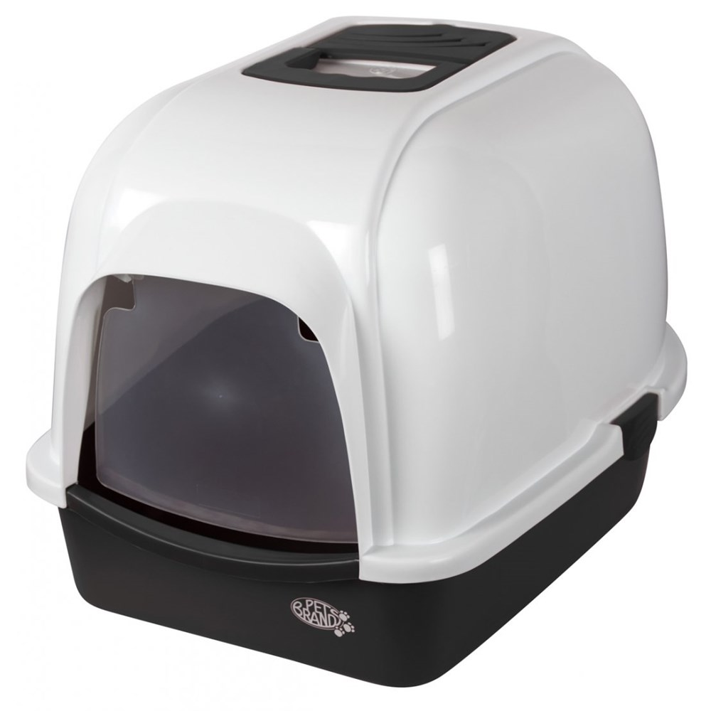 OVAL BLACK LITTER TRAY WITH HOOD