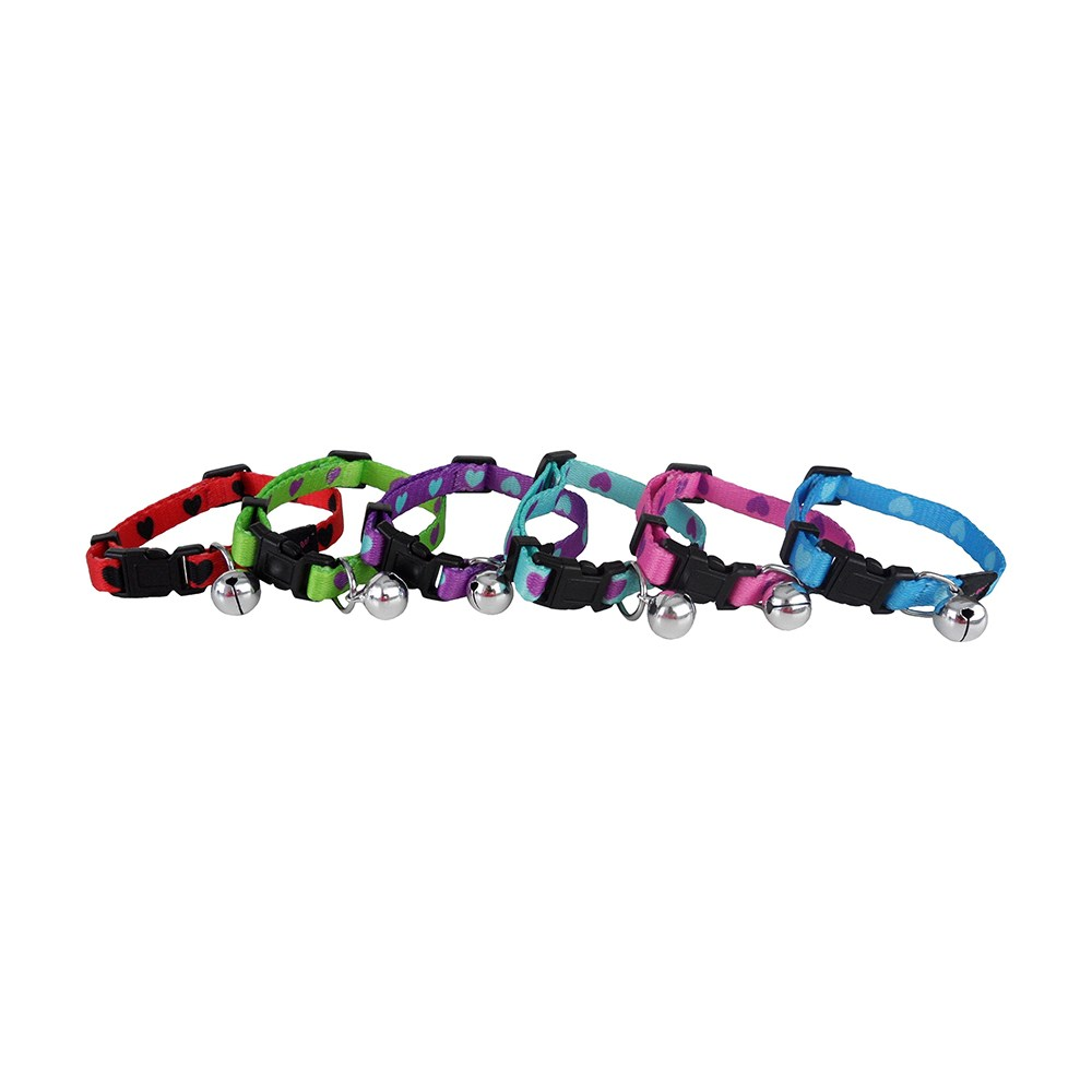 Hearts Snag Free Cat Collar - Assorted Colours