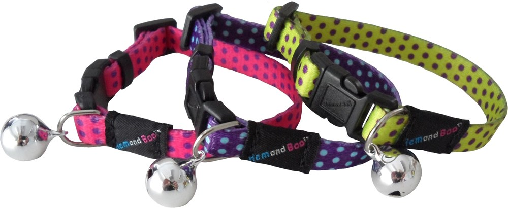 Spotty Snap Free Cat Collar - Assorted Colours
