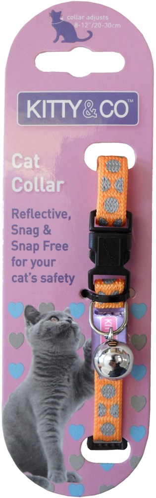 Reflective Polka Dot Cat Collar - Assorted Colours