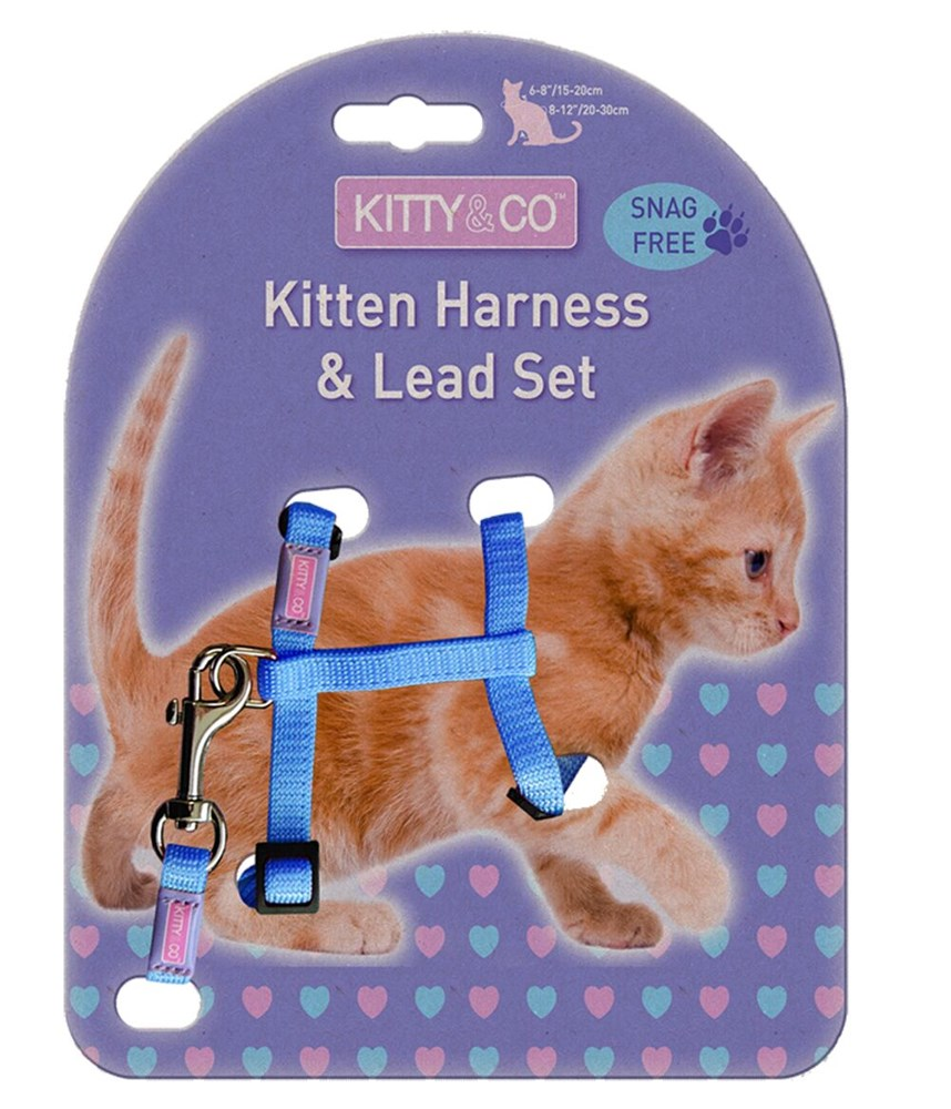 SNAG FREE KITTEN HARNESS AND LEAD SET
