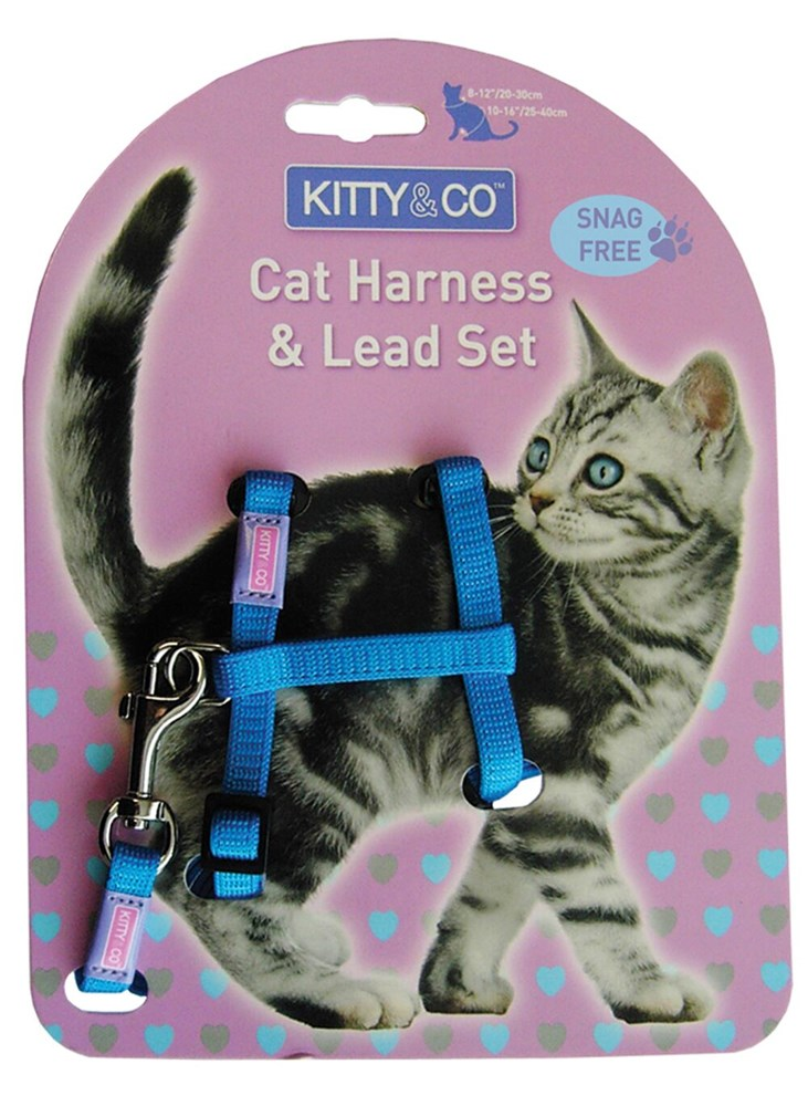 SNAG FREE CAT HARNESS AND LEAD SET MIXED