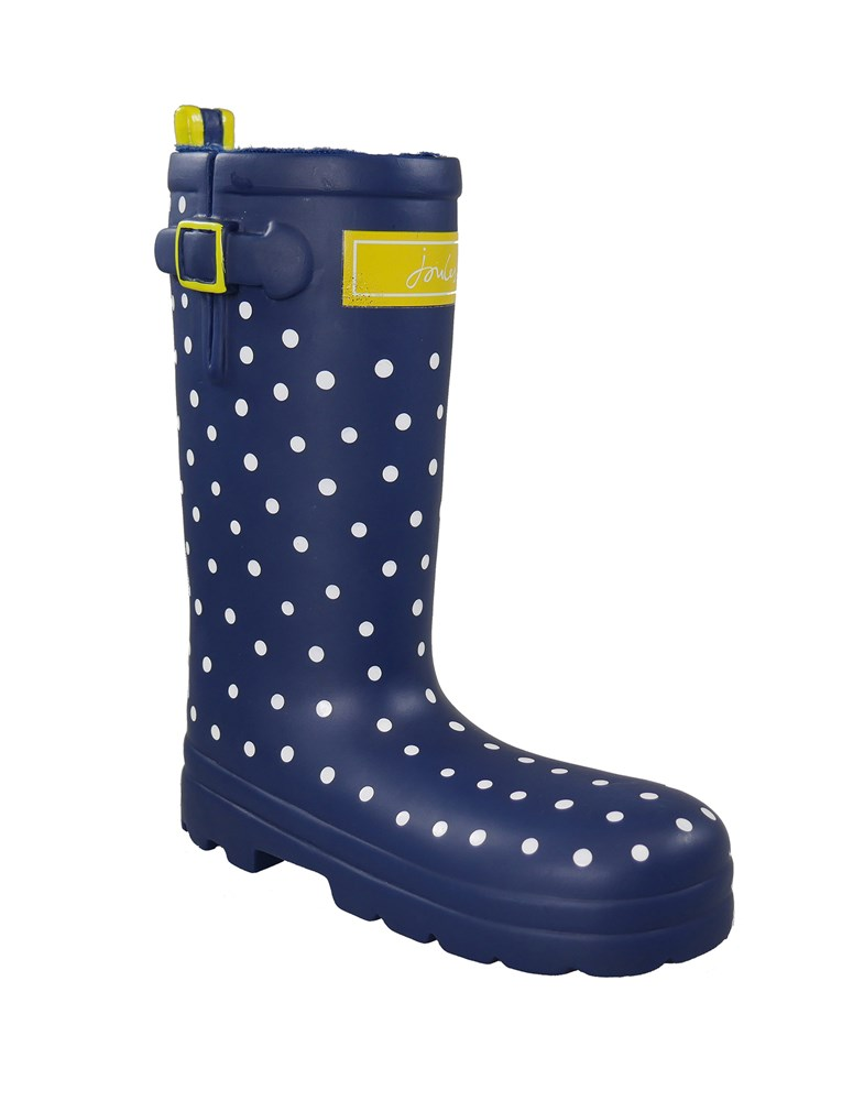 JOULES RUBBER WELLY DOG TOY SPOTTY
