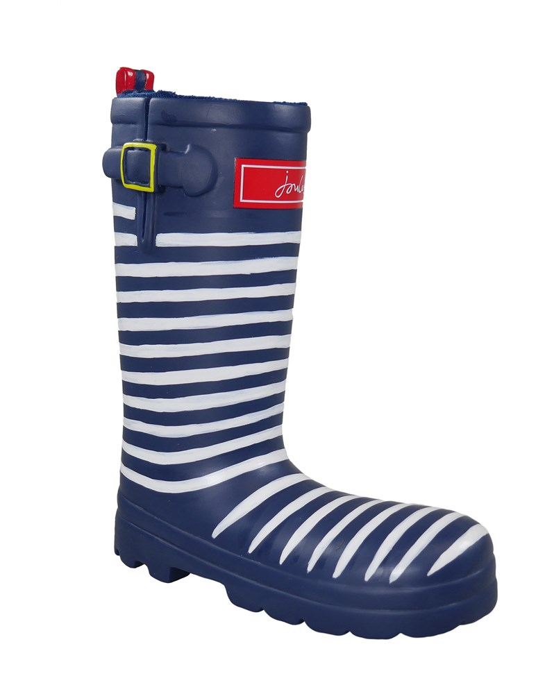 JOULES RUBBER WELLY DOG TOY STRIPEY
