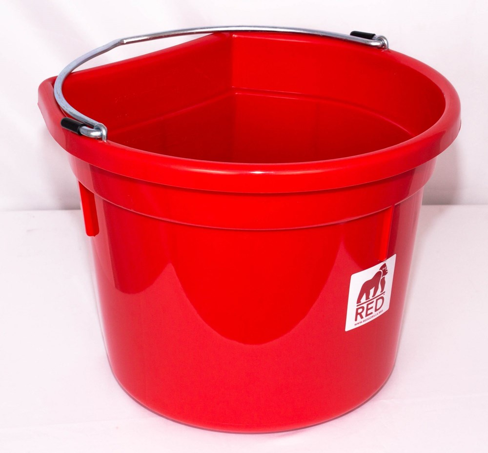 Red Gorilla Flat Back Bucket - Red 20L