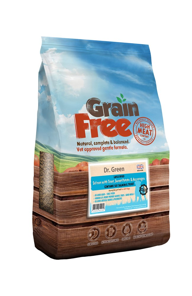 Dr Green Grain Free - Large Breed Salmon 12kg