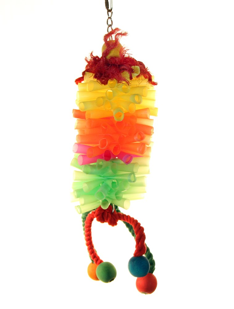 COLOUR STRAW BUNDLE BIRD TOY