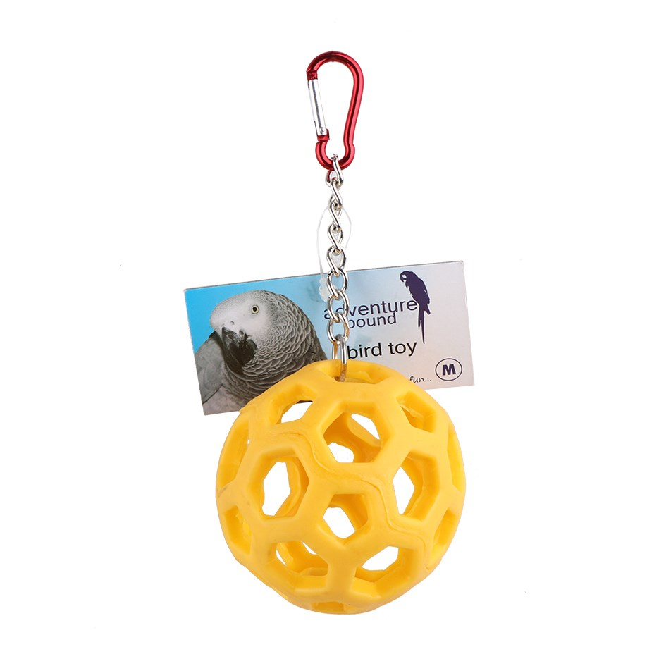 RUBBER BALL BIRD TOY
