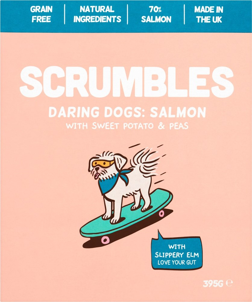 Scrumbles Wet Dog Food Salmon 395g