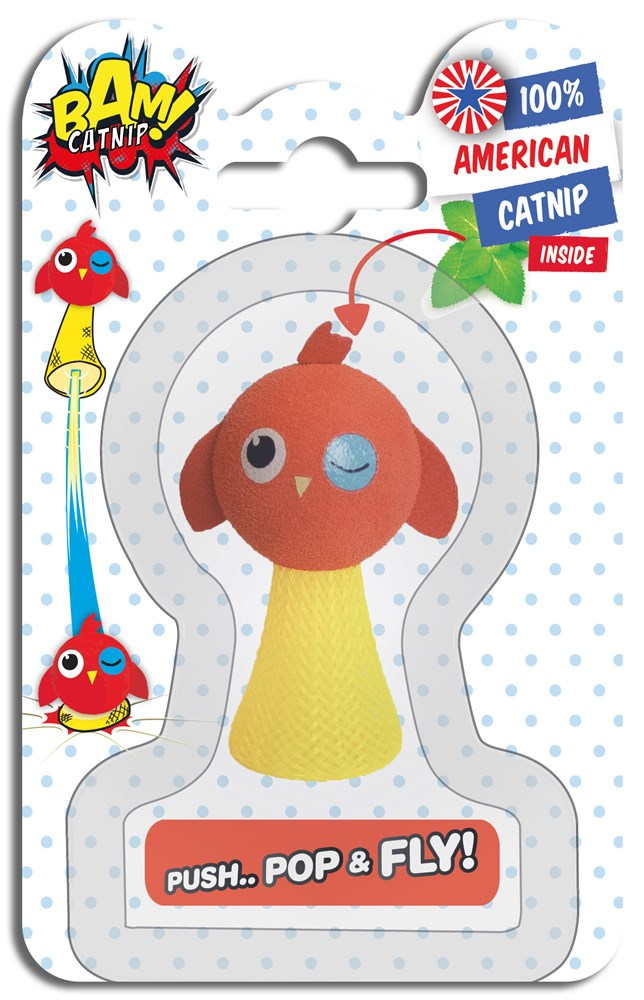 CATNIP POP & FLY CAT TOY