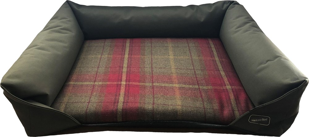 Luxury Country Check Sofa Bed - Medium