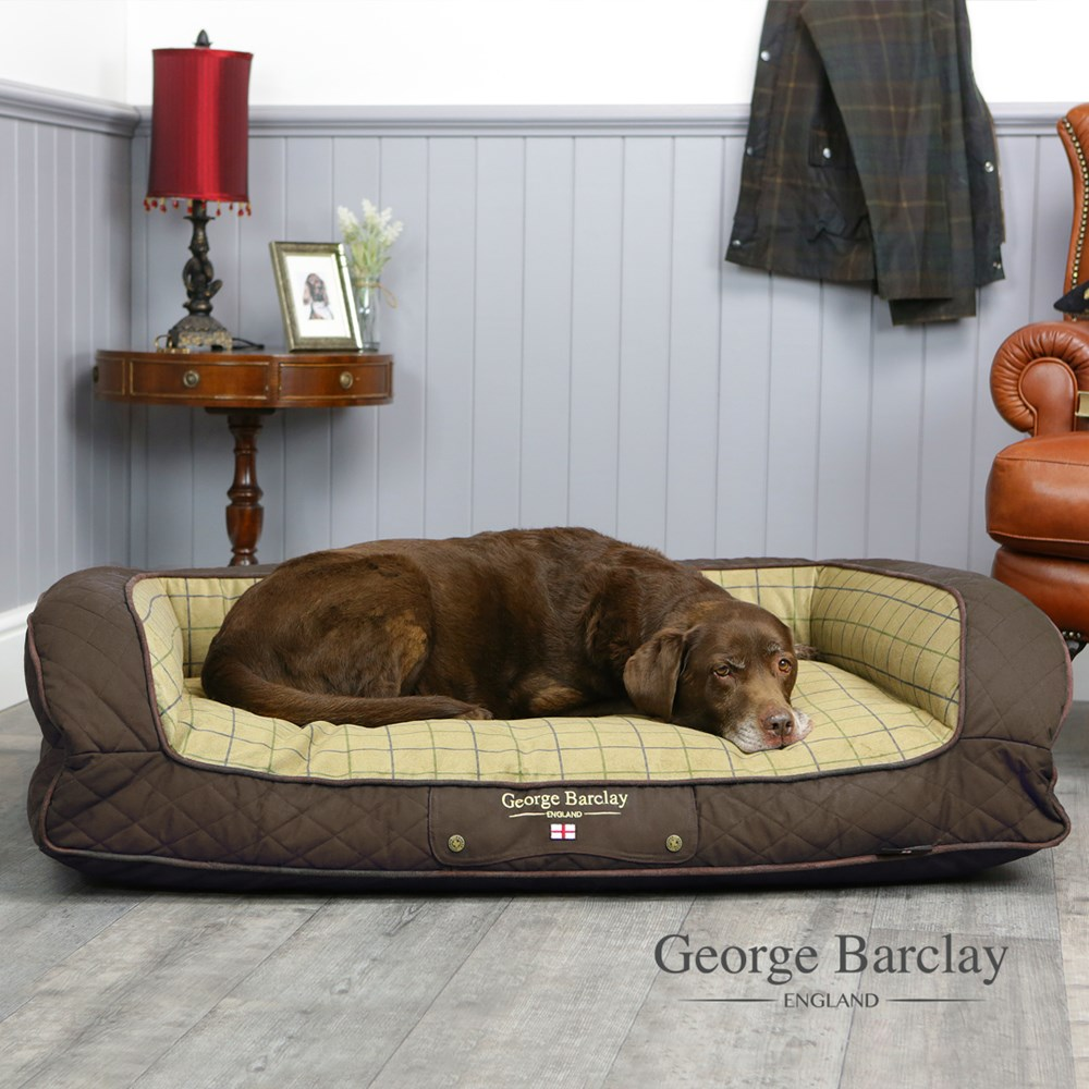 George Barclay Country Sofa Bed Medium - Chestnut Brown