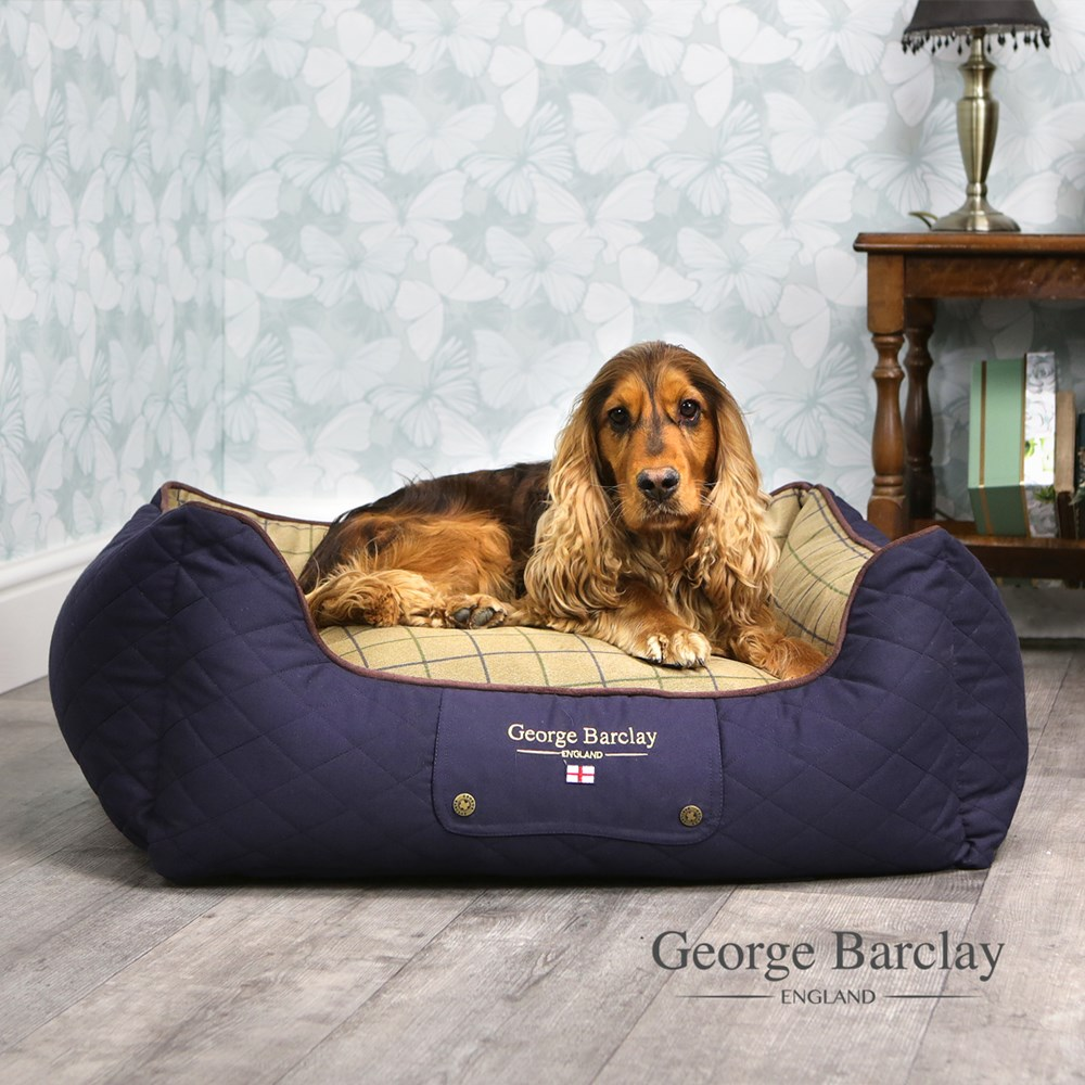 George Barclay Country Orthopaedic Box Bed Small - Midnight Navy