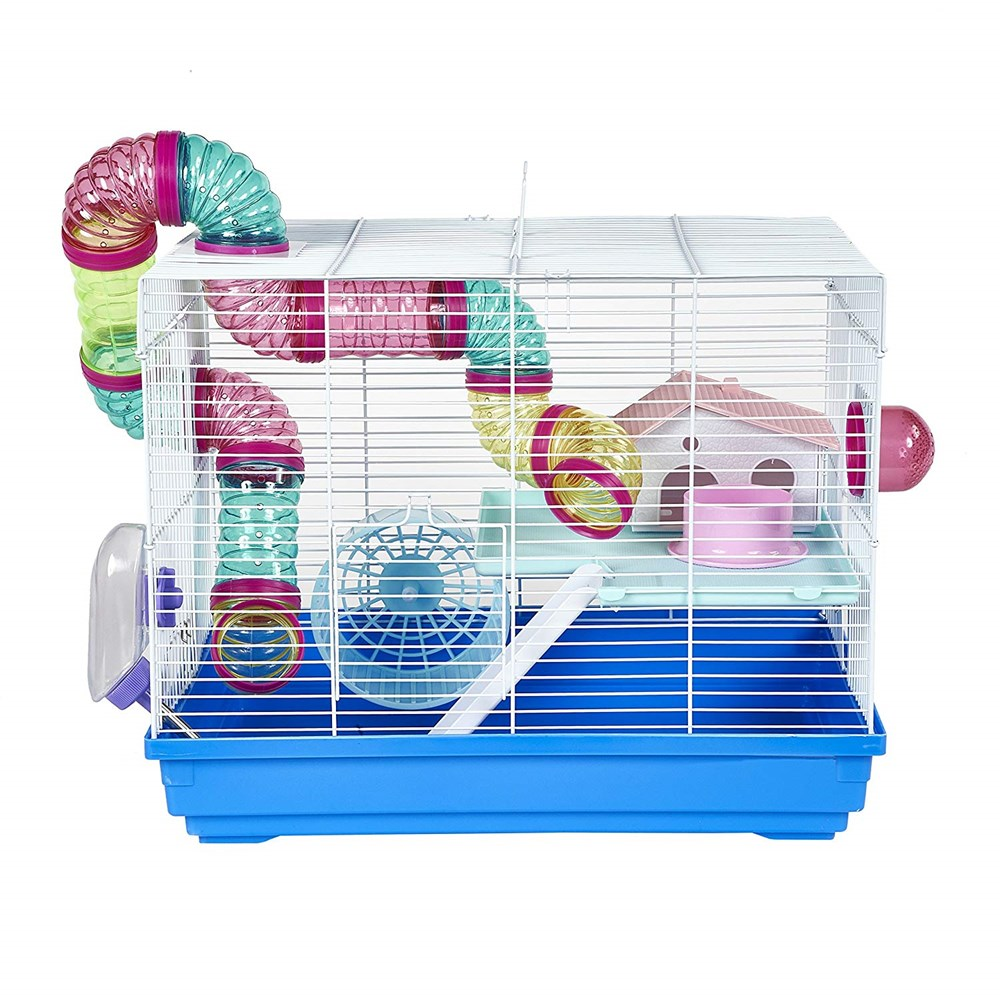 Little Zoo Hugo Small Animal Cage - Assorted Colours