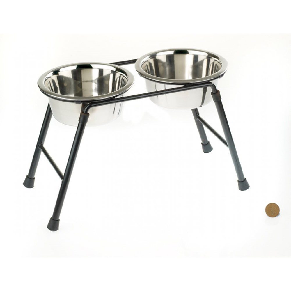 Stainless Steed High Stand & Feeding Dish 900ml