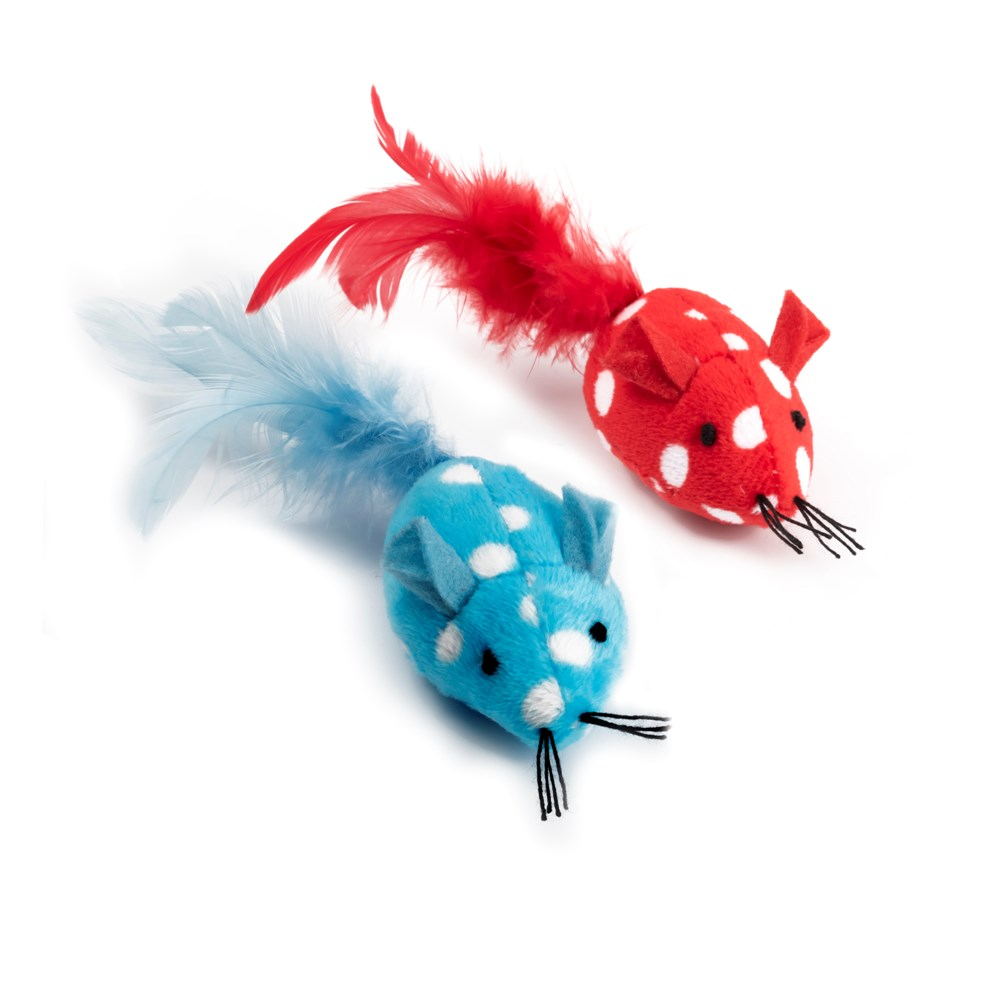 Ancol Polka Dot Mouse Cat Toy