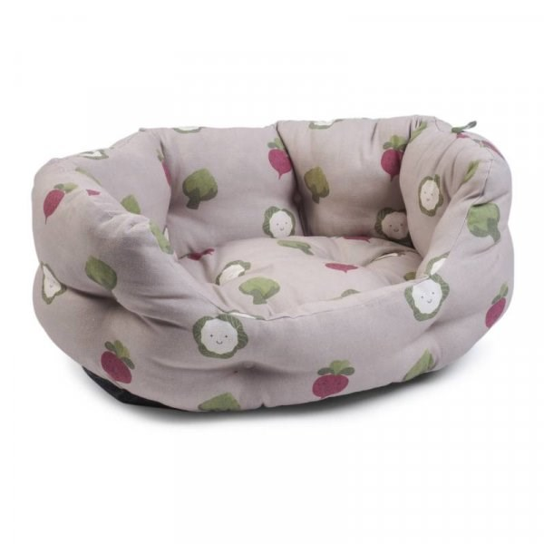 Veggie Patch Oval Soft Dog Bed - Small