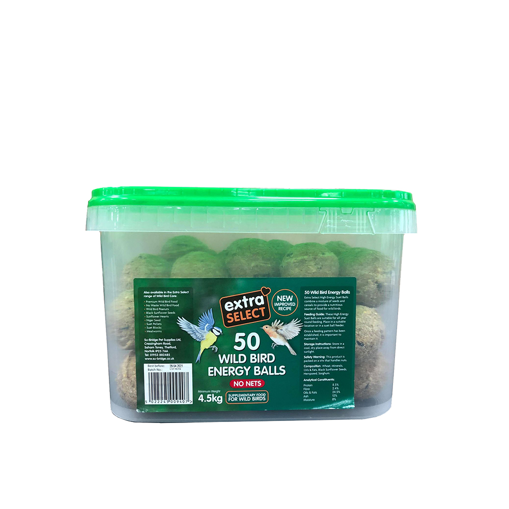 Extra Select Fat Balls - Bucket of 50