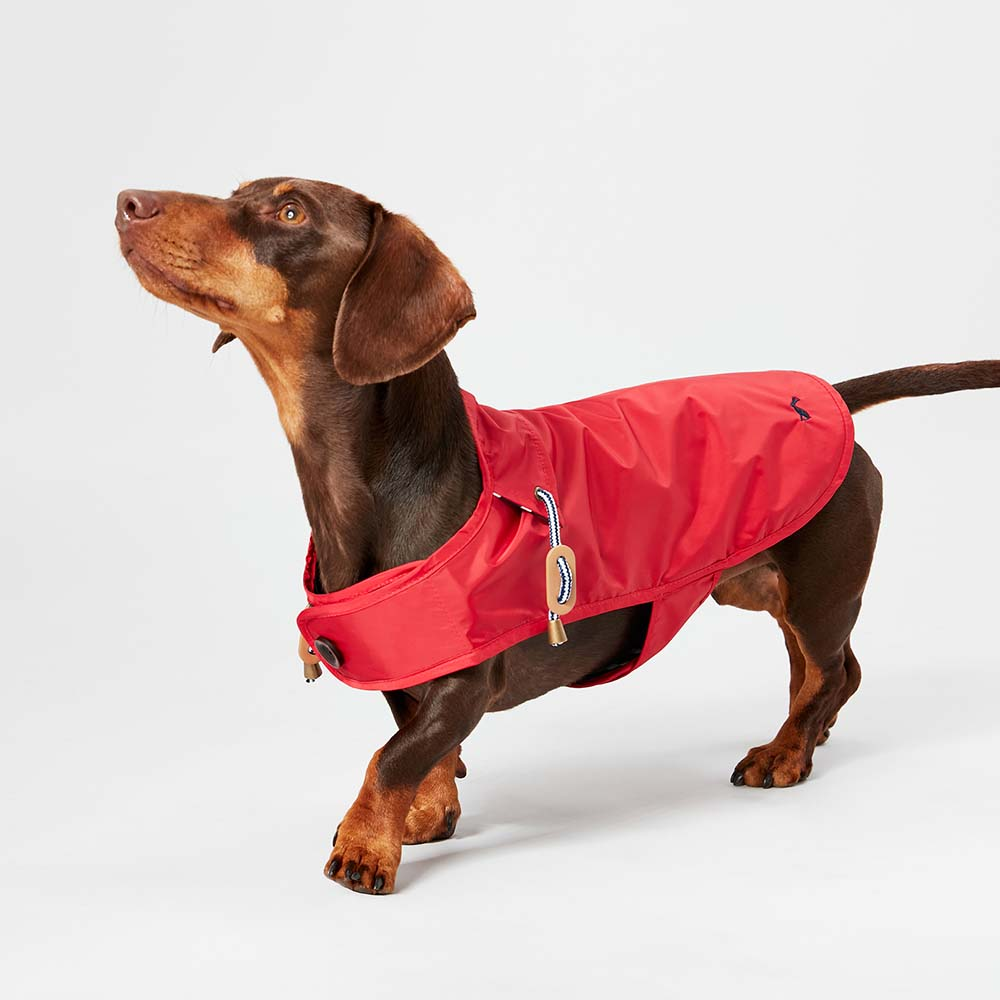JOULES RED WATER RESISTANT DOG COAT - S