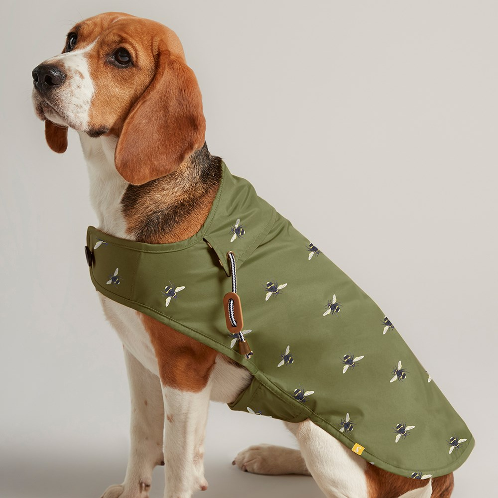 JOULES KHAKI BEE DOG COAT - S