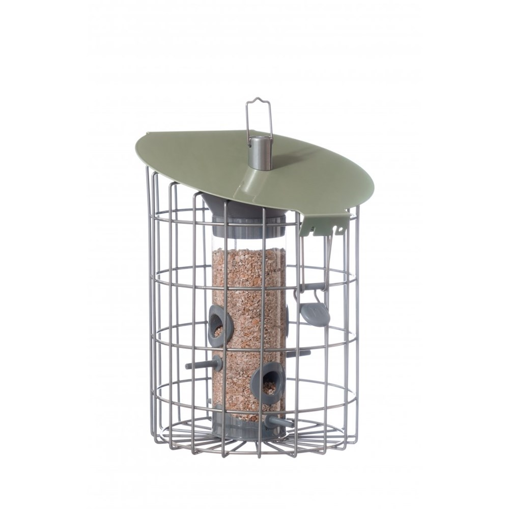 The Nuttery Contemporary Roundhaus Nut Squirrel Proof Wild Bird Feeder