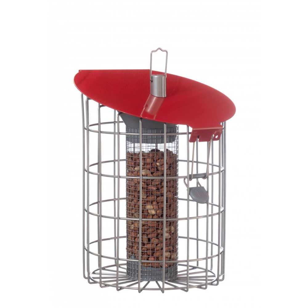 The Nuttery Contemporary Roundhaus Seed Squirrel Proof Wild Bird Feede