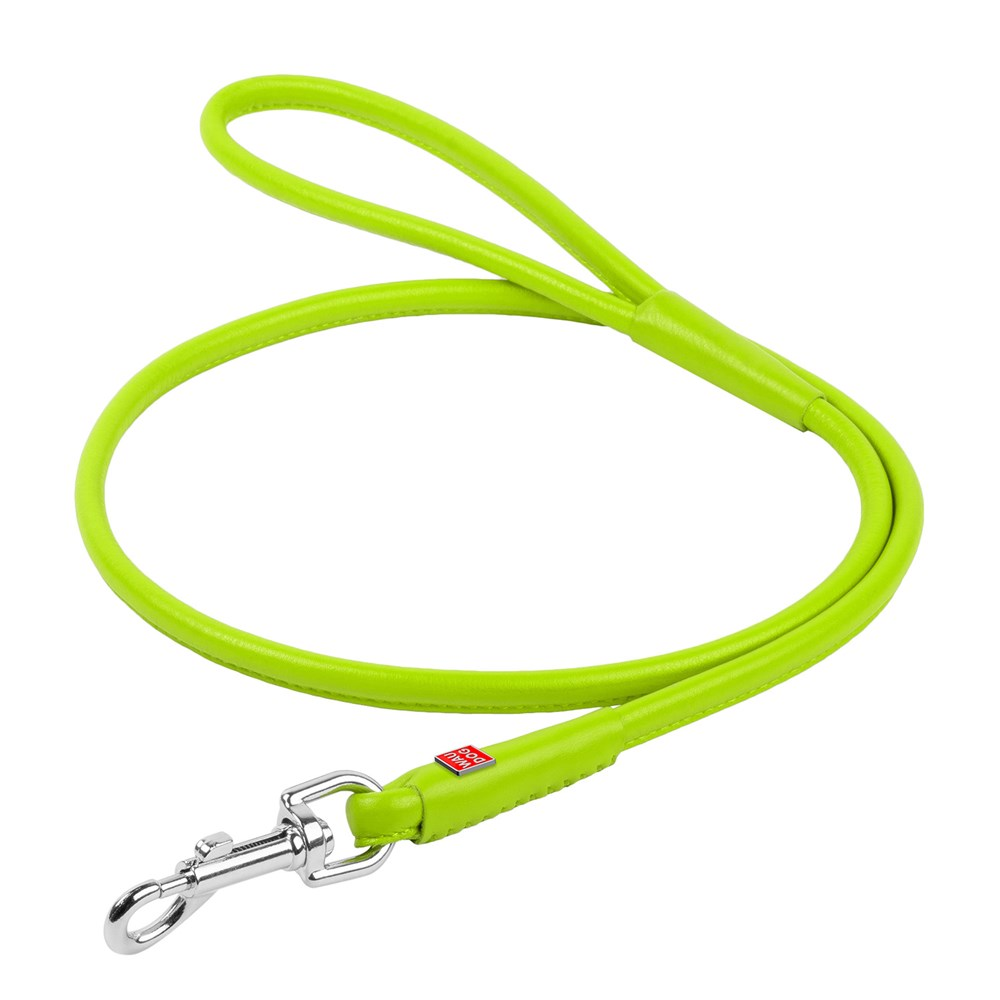 WAUDOG GLAM LEATHER ROUND LEAD 10MM GREEN