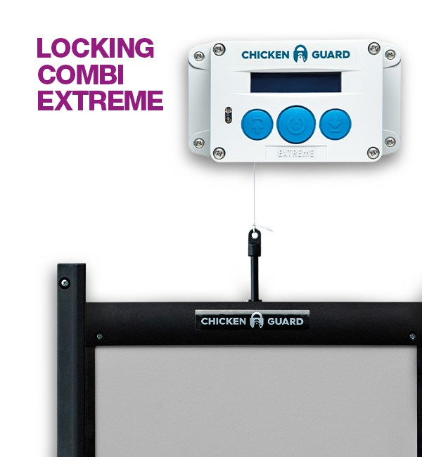 CHICKEN GUARD LOCKING COMBI EXTREME DOOR OPENER