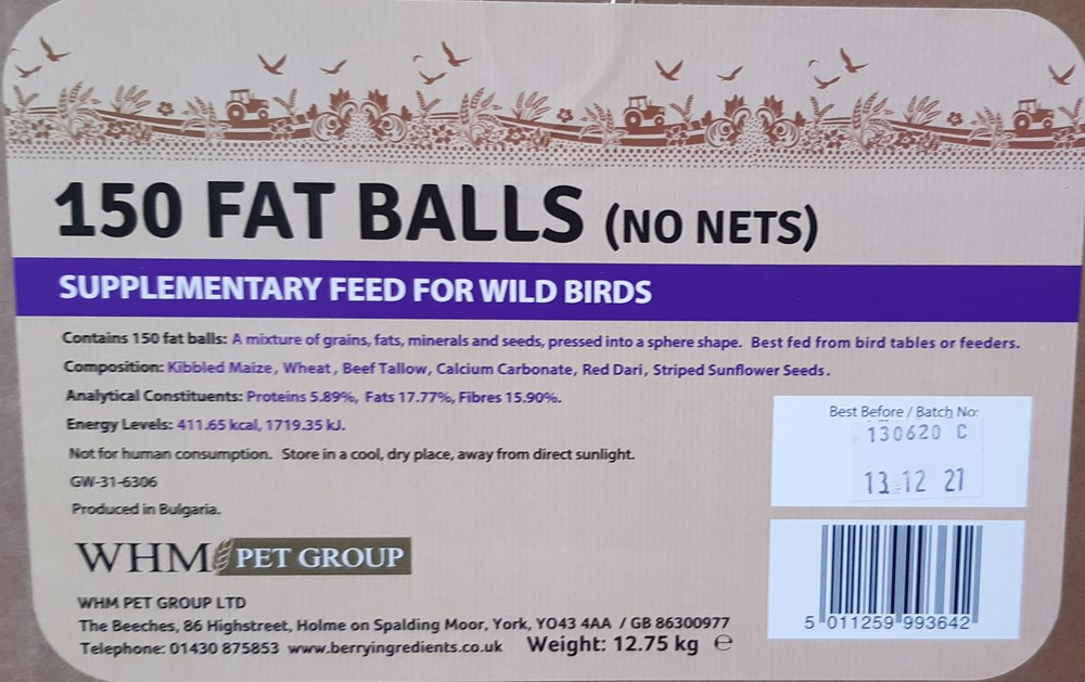 FAT BALLS BOX 150 NO NETS