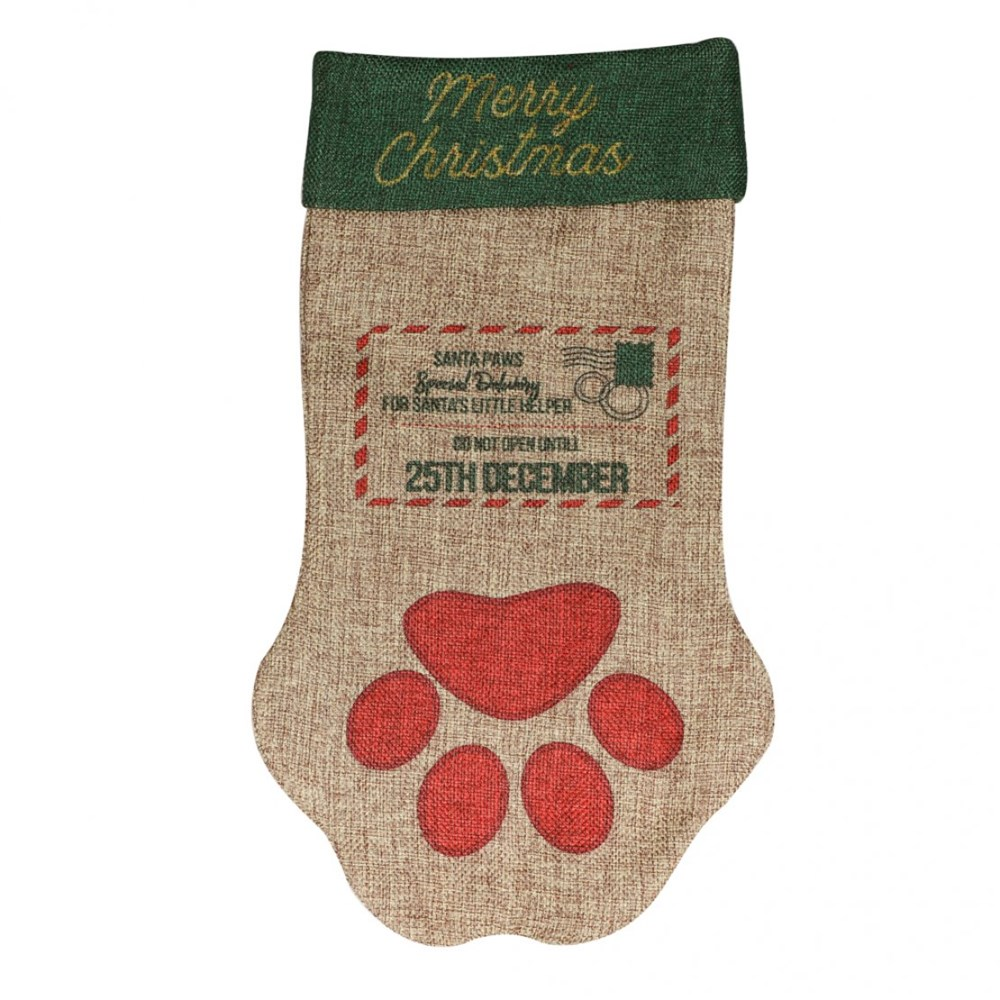 Festive Santa Paws Stocking
