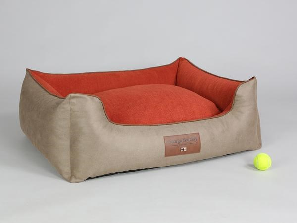 GEORGE BARCLAY SELBOURNE ORTHOPAEDIC DOG BED - GINGER/EMBER-  LARGE