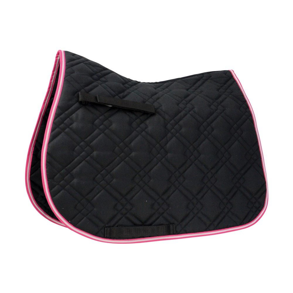 HySPEED Deluxe Pro Saddle Pad Black P/C