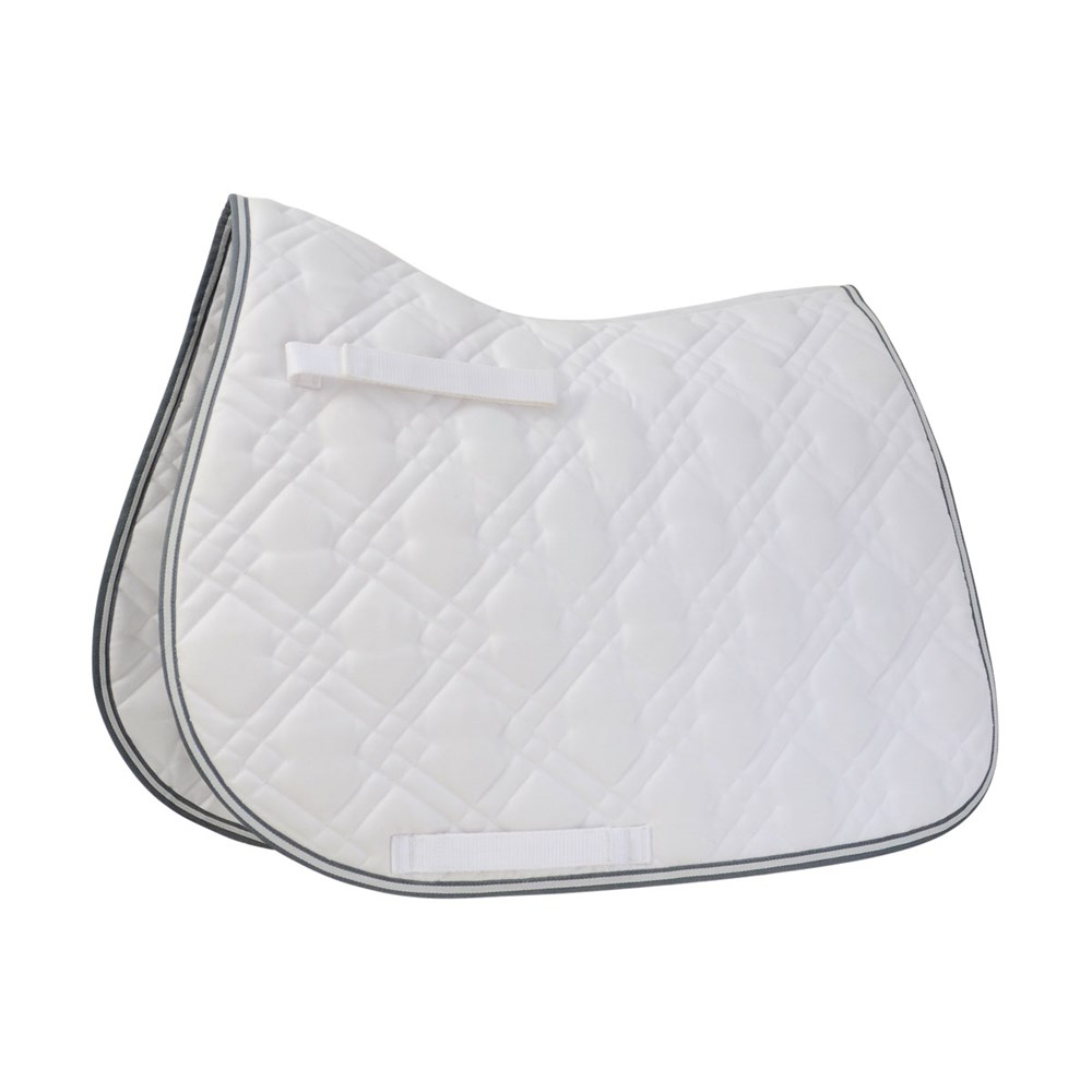 HySPEED Deluxe Pro Saddle Pad White P/C