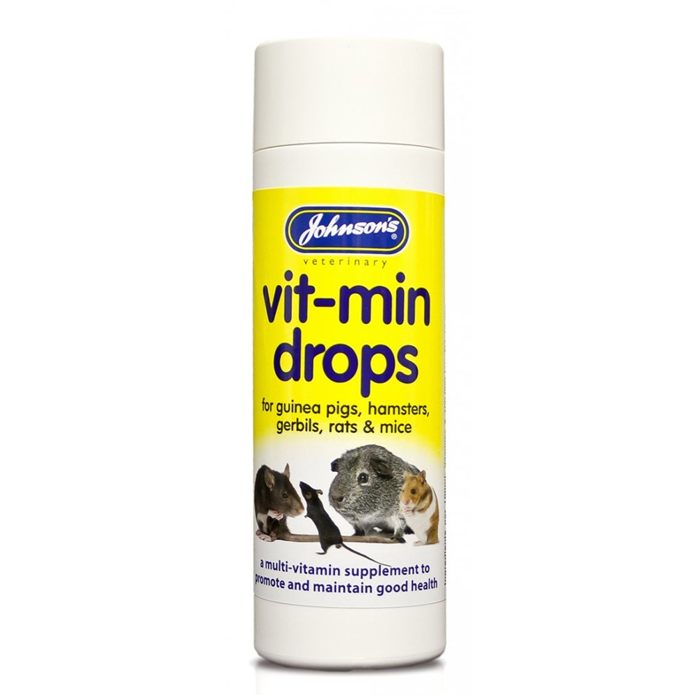 JOHNSONS HAMSTER GUINEA PIG VIT MIN DROPS 100ML