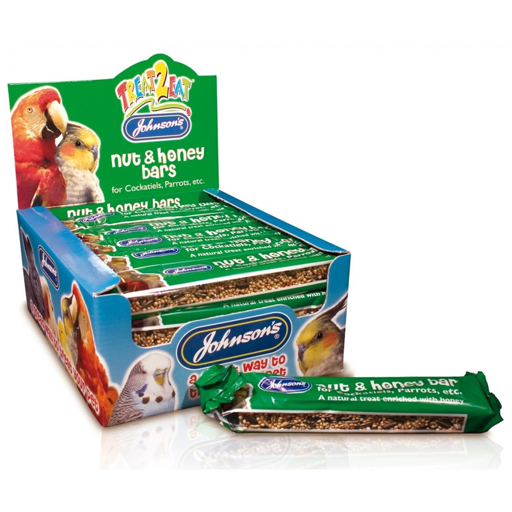 JOHNSONS COCKATIEL PARROT NUT HONEY BARS