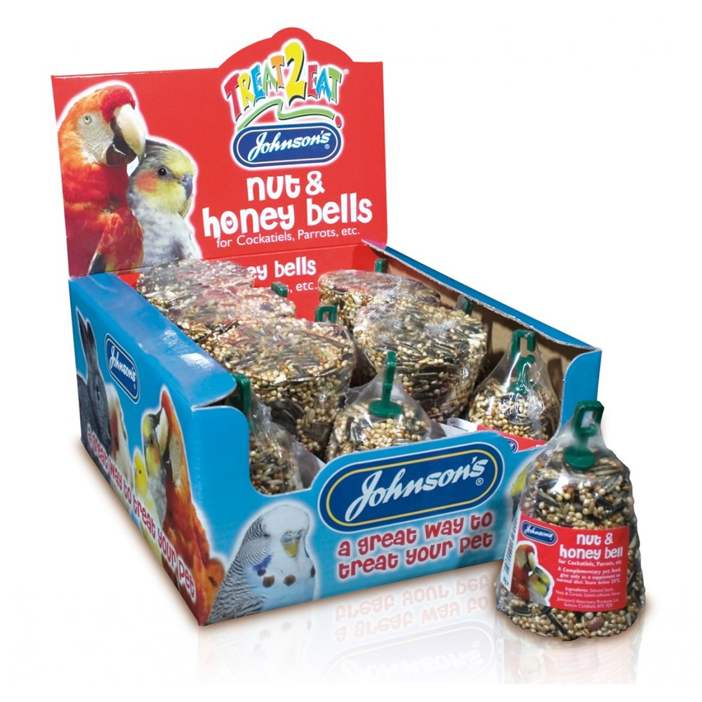 JOHNSONS COCKATIEL PARROT NUT HONEY BELL