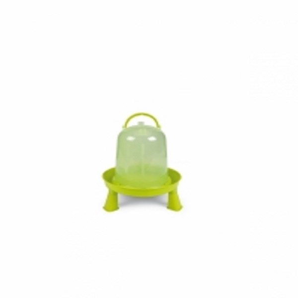 GAUN ECO CHICKEN DRINKER WITH LEGS GREEN/LEMON 3LT