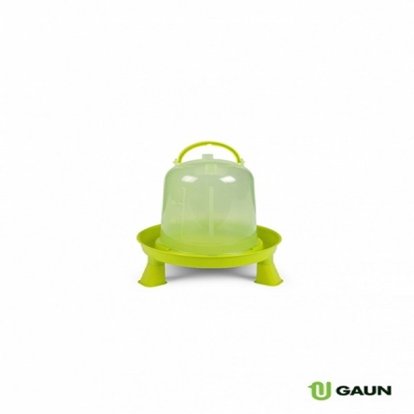 GAUN ECO CHICKEN DRINKER WITH LEGS GREEN/LEMON 5LT
