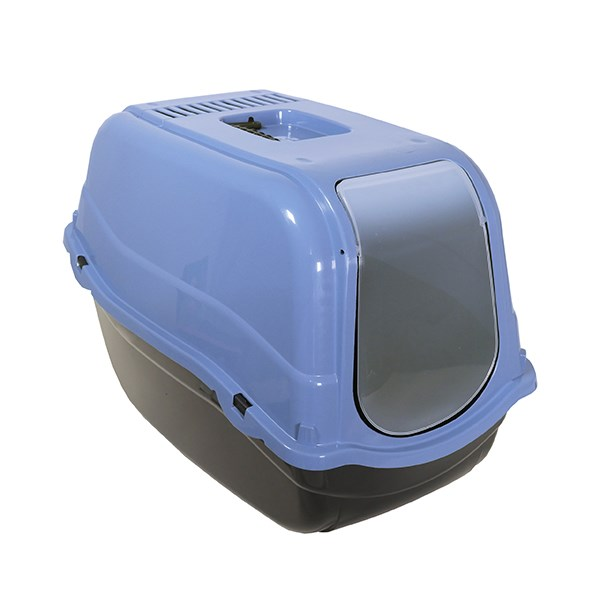 ECO LINE HOODED CAT TOILET SLATE BLUE
