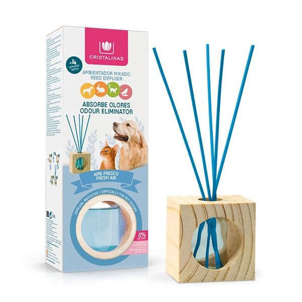 CRISTALINAS PET ODOUR ELIMINATOR REED DIFFUSER - FRESH AIR - 30ML