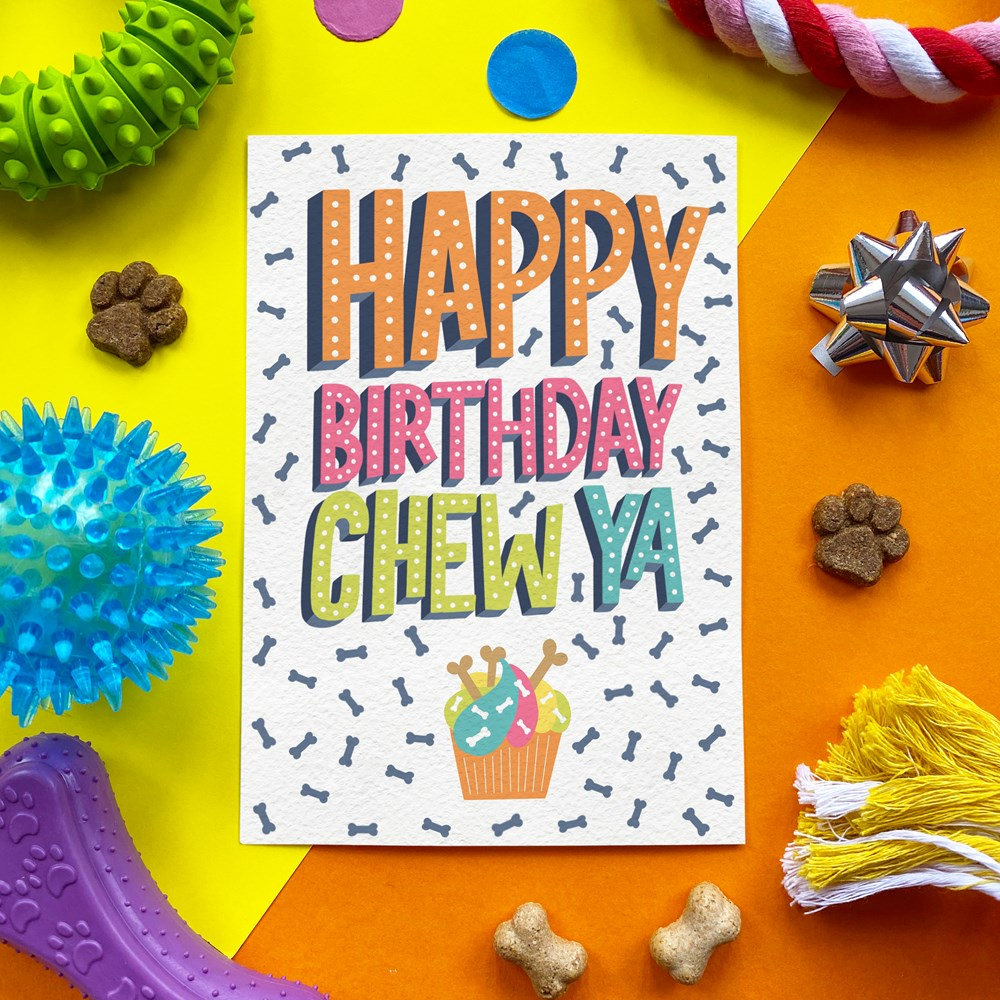 SCOFF PAPER HAPPY BIRTHDAY CHEW YA EDIBLE CARD - CHEESE FLAVOUR