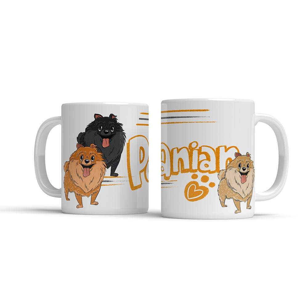 ILLUSTRATED MUG - POMERANIAN