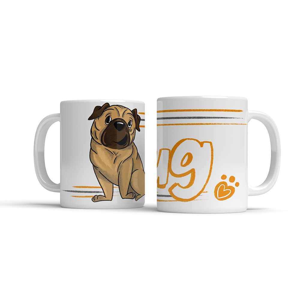 ILLUSTRATED MUG - PUG