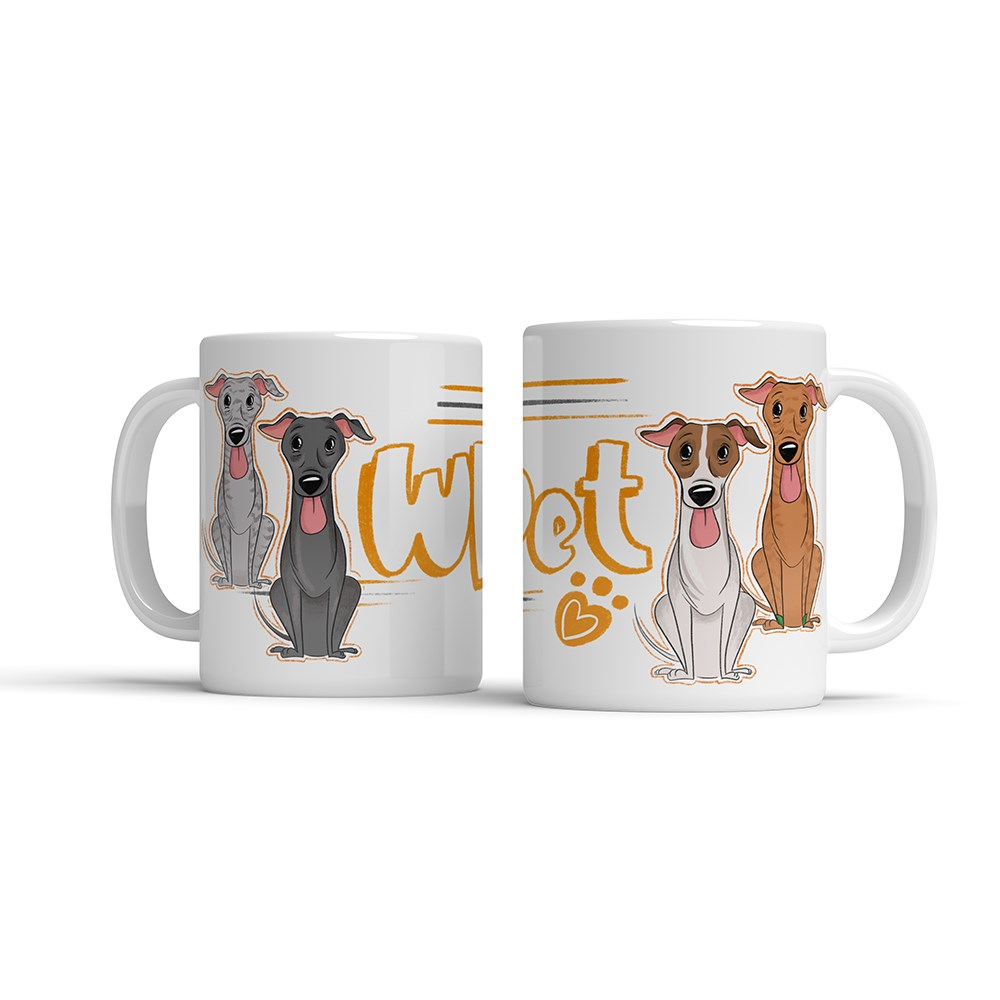 ILLUSTRATED MUG - WHIPPET